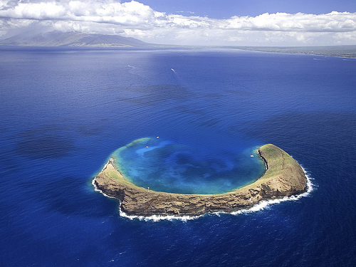An Island in the sea.