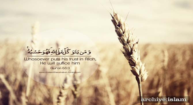 Full trust in Allah