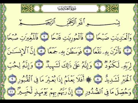 What do you know about Surat Al-`Adiyat? How could a human being be an evil?