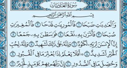 Surat Al-`Aiyat
