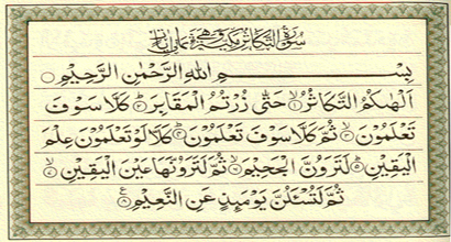 Is wealth evil? How could one control it? How could wealth make one think no more of the Hereafter? What is meant by na`eem in the Surah?